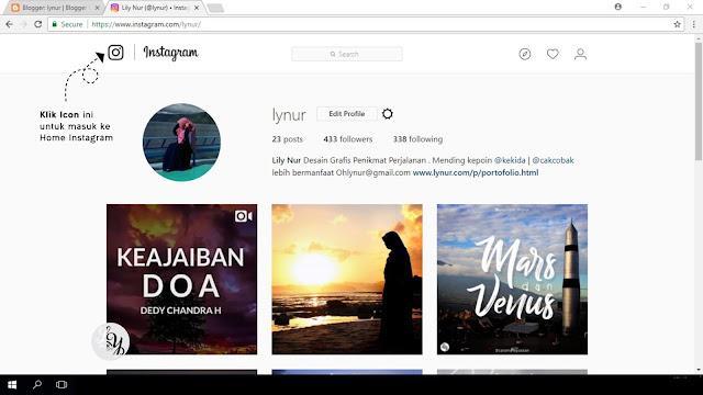 Trik Mengupload Foto Ke Instagram Dari Web Browser PC