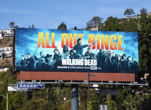Walking Dead season 8 All out binge billboard