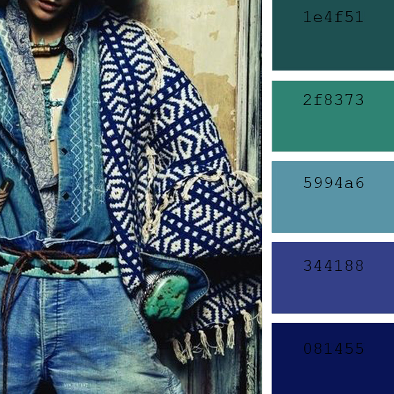 "INSPIRACIÓN: ""denim color palettes"""