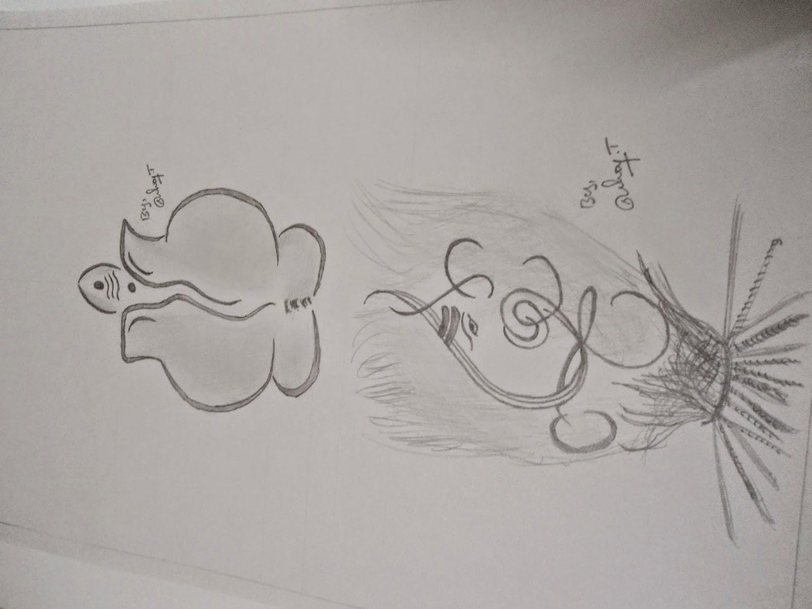 Ganapathi pencil drawings lord ganesha pencil sketch ganapathy part3