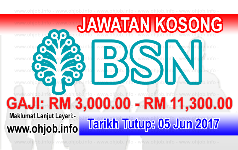 Jawatan Kerja Kosong BSN - Bank Simpanan Nasional logo www.ohjob.info jun 2017