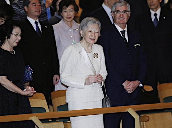 Japan's Empress Michiko attended a charity concert held for the benefit of 2011's Great East Japan Earthquake