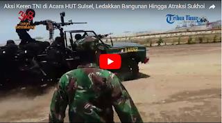 VIDEO: Aksi Keren TNI di HUT Sulsel, Ada 'Penyergapan Teroris' Hingga Atraksi Sukhoi