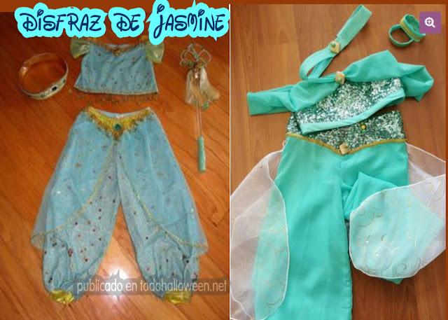 disfraz niña de Jasmine de aladdin