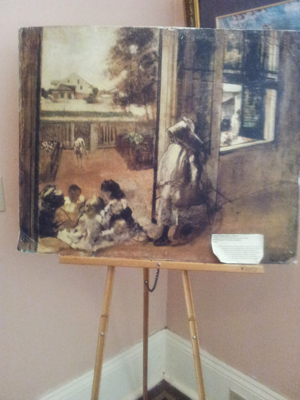 Painting by Edgar Degas - 'Children on a doorstep'  at Degas House, New Orleans