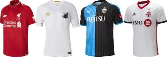 リヴァプール-サントス-川崎フロンターレ-トロントFC 2018-19 ユニフォーム