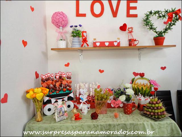 decoração festa romântica