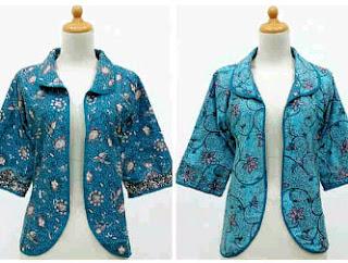 Cardigan Batik Wanita Modern Terbaru