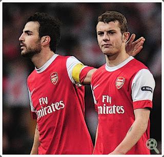 Cesc Fàbregas Jack Wilshere Arsenal Gunners