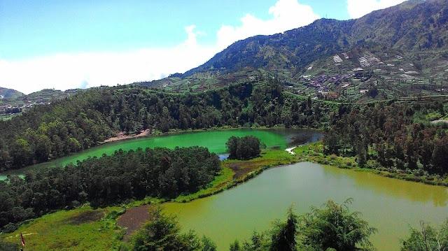 Wisata Telaga Warna Dieng Plateau Wonosobo Jawa Tengah