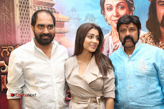 Shriya Saran Nandamuri Balakrishna at Gautamiputra Satakarni Team Press Meet Stills  0223.JPG
