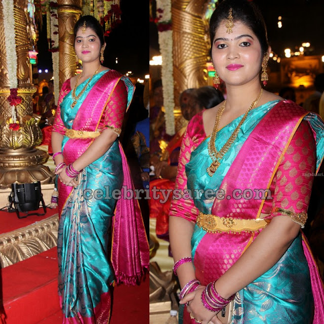Latest Kanjeevaram Saree in Blue