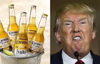 La publicidad de Corona vs Donald Trump