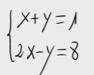 12 Sistema lineal de dos ecuaciones y dos incognitas. (Reducción)