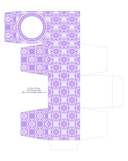 purple printable gift box