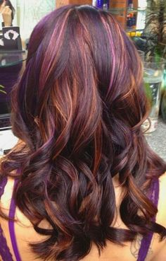 amazing multi colored highlights