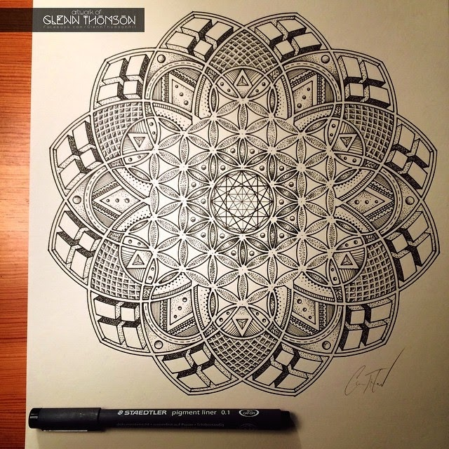 02-Imaginatrix-Glenn-Thomson-Black-and-White-Innovative-Mandala-Designs-www-designstack-co