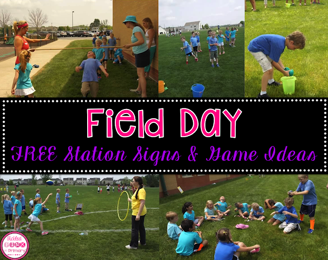 12 FREE Station Signs for Field Day