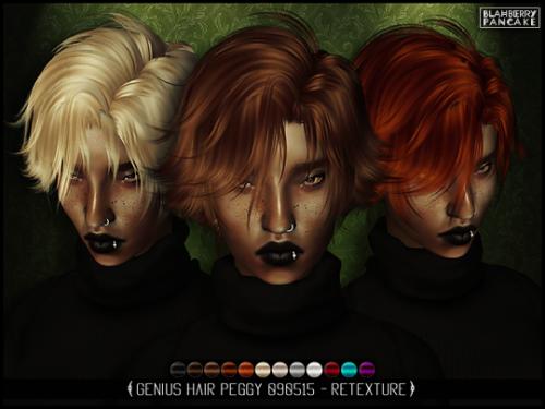 My Sims 4 Blog Hair Retextures By Blahberrypancake