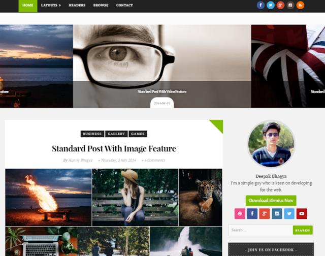 iGenius - Personal Blogger Template