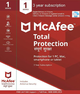 McAfee Total Protection- 1 PC, 1 Year (CD),Antivirus,amazon,Mcafee,