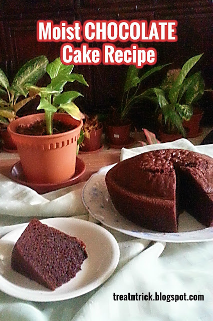 Moist Chocolate Cake Recipe @ treatntrick.blogspot.com
