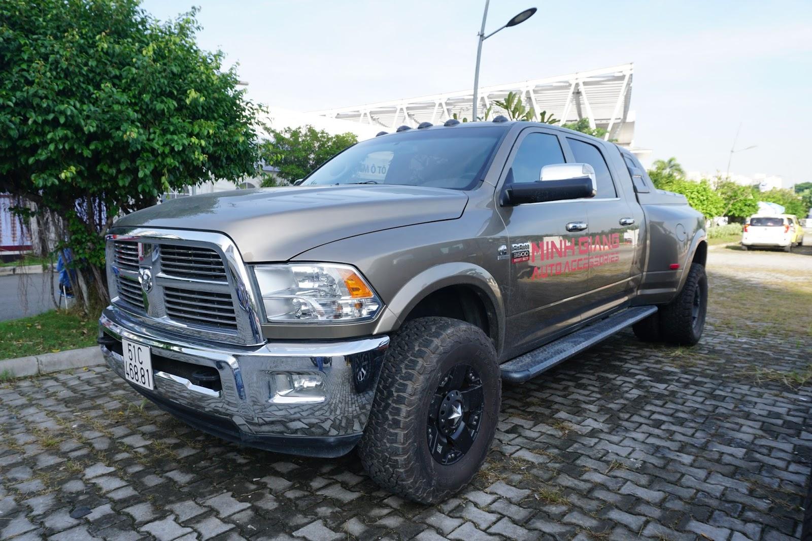 Ram 3500 là một trong những bán tải lớn nhất trên thế giới