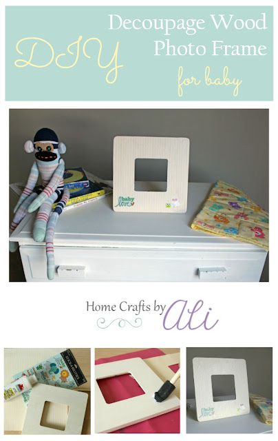 diy decoupage photo frame baby easy project