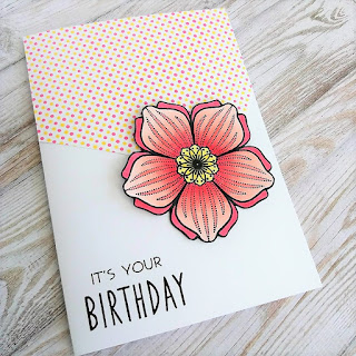 Birthday card with Create A Smile stamps