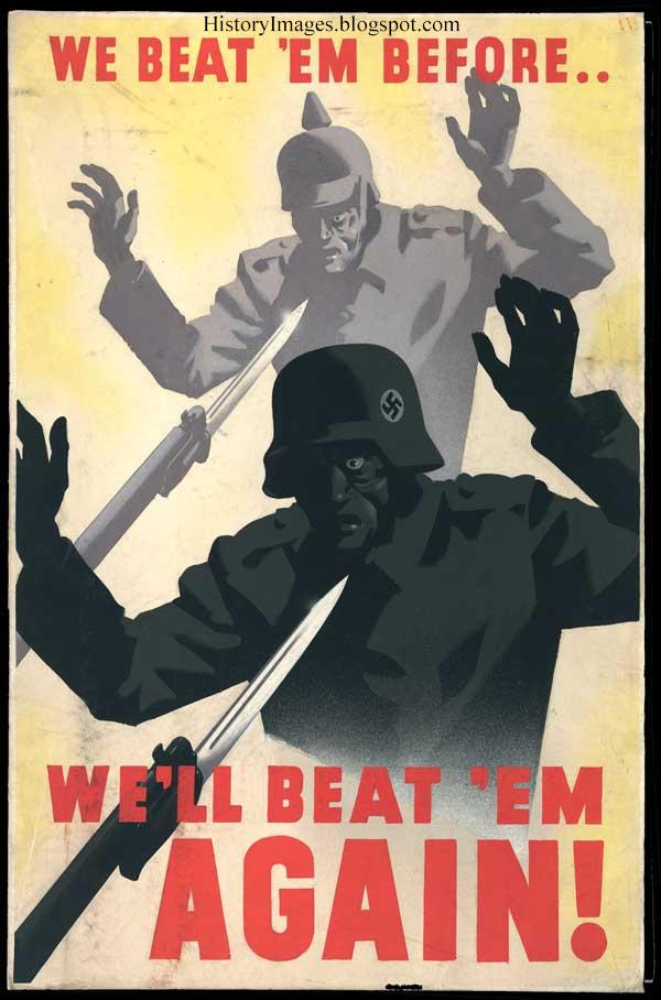 """We've beaten them before. We beat them again."" Another poster, which was released in the wake of the disaster at Dunkirk"
