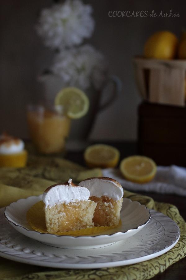 Cupcakes Lemon Pie. Reto Cupcakes Revival. Cookcakes de Ainhoa