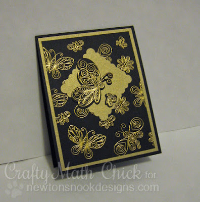 Gold Embossed Butterflies by Crafty Math Chick | Beautiful Wings by Newton's Nook Designs