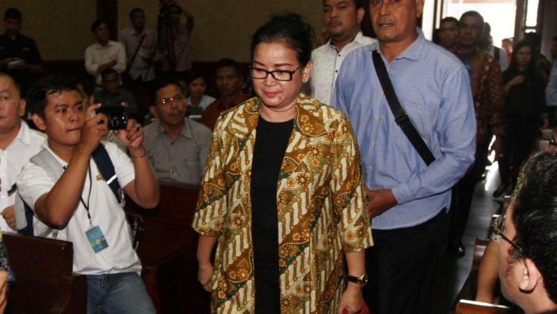 Miryam S Haryani hadir di Pengadilan Tipikor, Jakarta