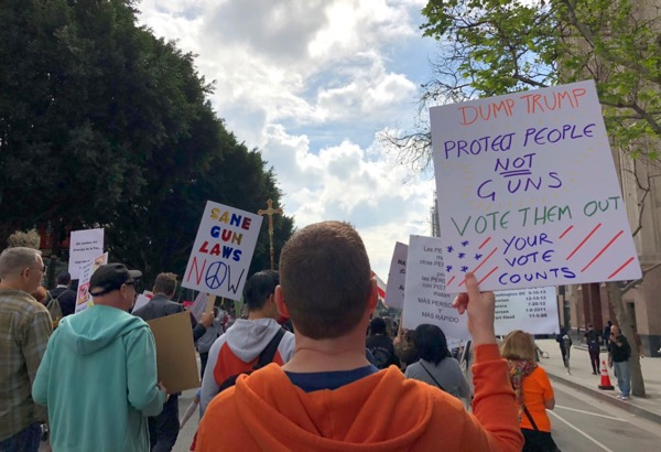 March For Our Lives LA Protect people not guns sign