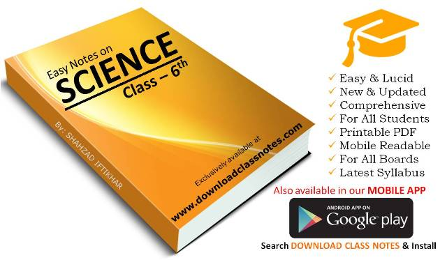 6th Class General Science Notes for Islamabad Model Schools & Colleges