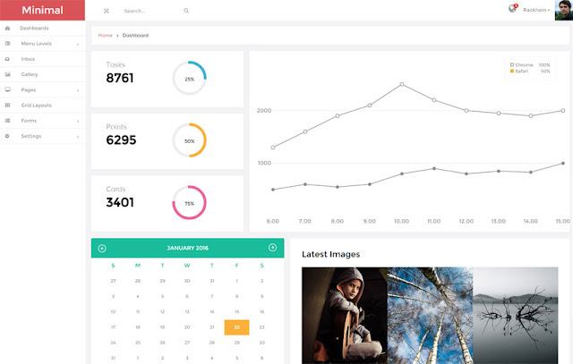 template admin bootstrap free