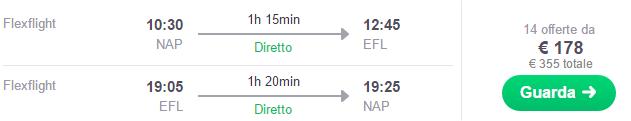 Volo low cost Napoli- Cefalonia