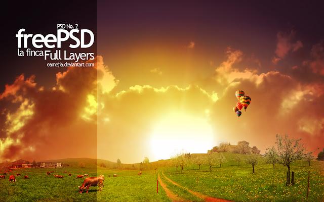 Landscapes o paisajes en PSD para Photoshop