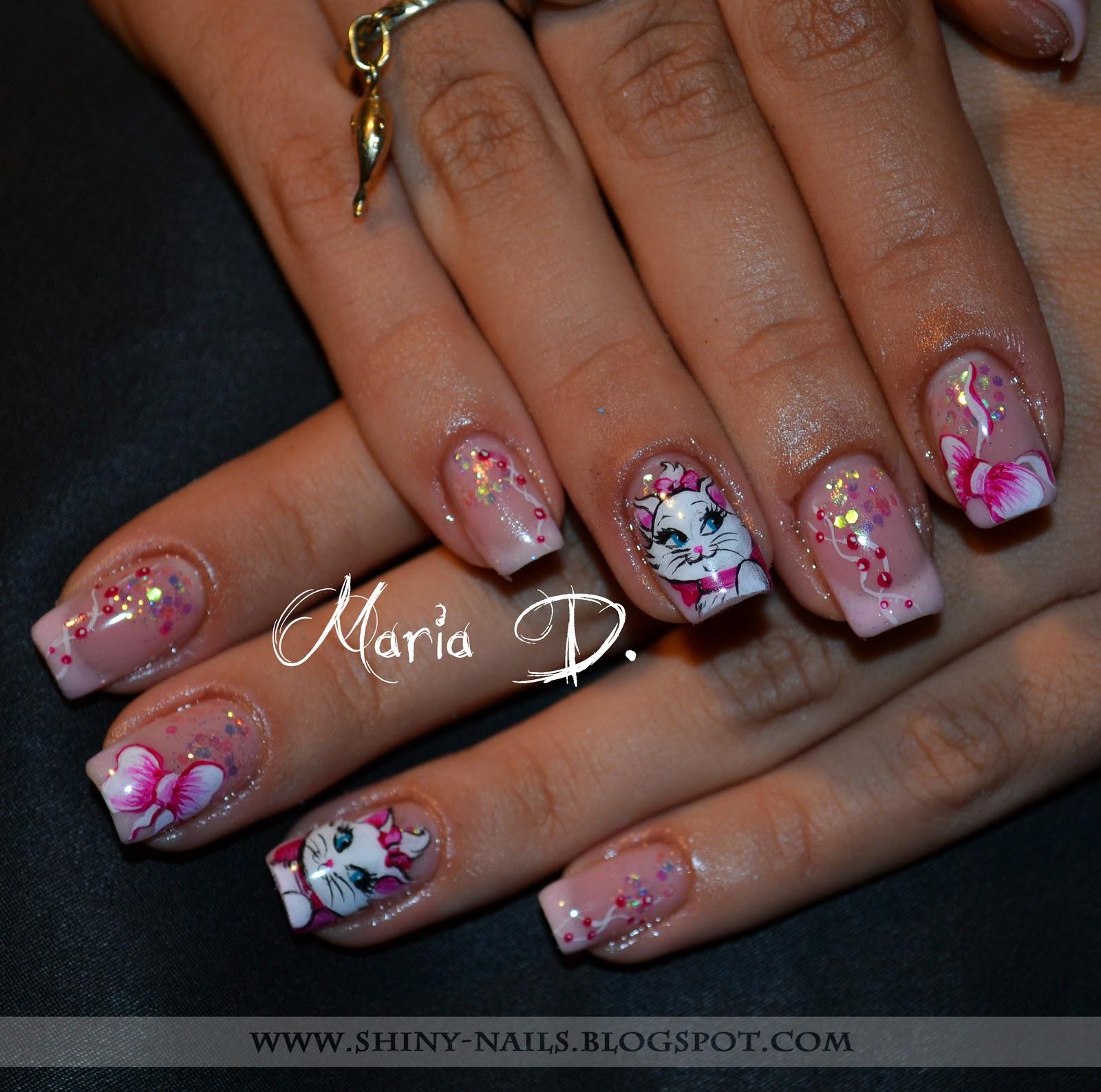 Shiny Nails By Maria D Disney Marie