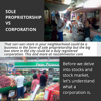 forms of businesses in the philippines, sole proprietorship vs corporation
