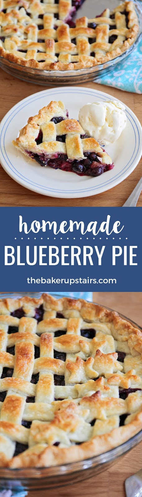 This delicious homemade blueberry pie is so simple and easy to make, you won't believe you made it at home!