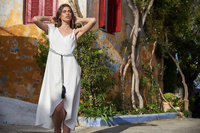 Sea Lakati white linen dress