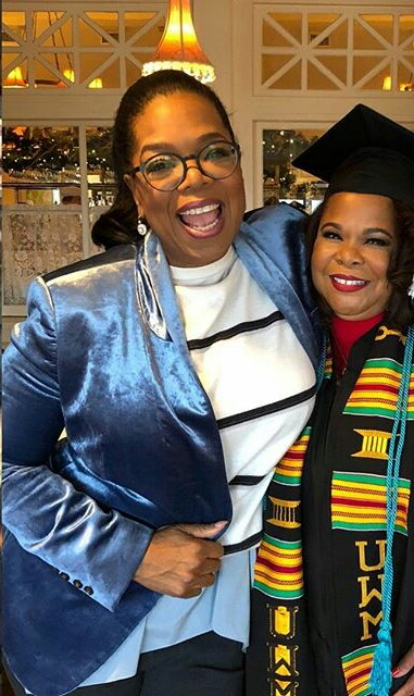 Oprah Winfrey and Patricia Lufton