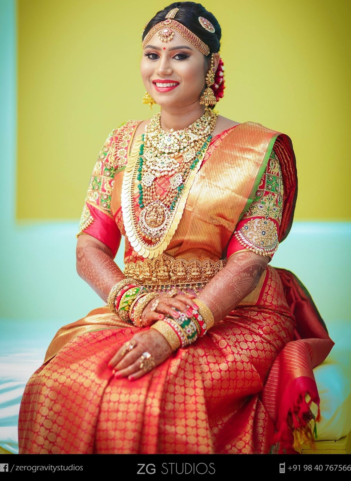 South Indian Bride in Kundan Wedding Jewellery Jewellery Designs