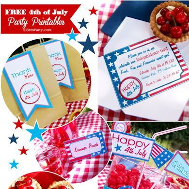 FREE Stars & Stripes 4th of July Printable Party Kit