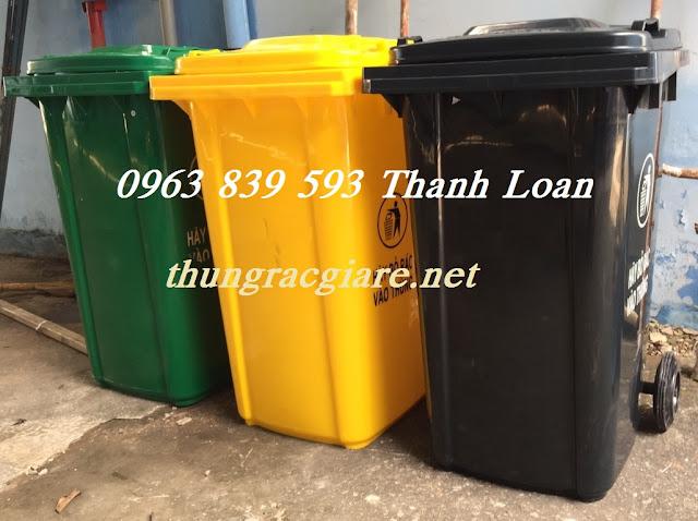 Thùng rác nhựa 240L giá rẻ tại Quận 12 - Call: 0963 839 593 Ms.Loan