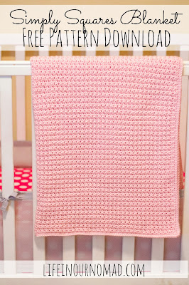 Free Crochet Pattern | Simply Squares Blanket