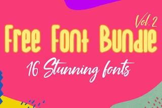 Font Bundle 2019 Volume 2