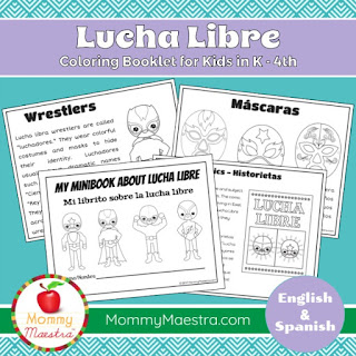 Lucha Libre Coloring Pages from MommyMaestra