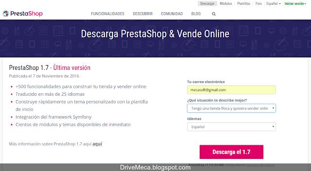 DriveMeca instalando y configurando ecommerce PrestaShop en Linux